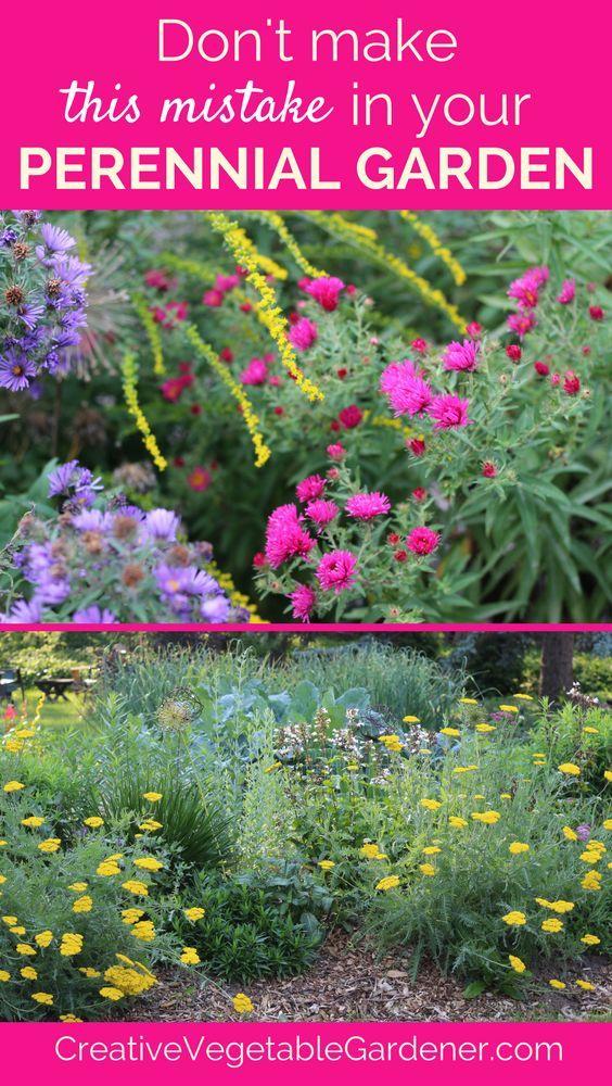 Flower Garden Design - The #1 Mistake Gardens, Perennials and