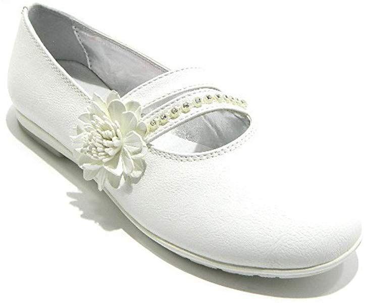 Amazon.com  ASSO Ballerina Bianco Scarpe Bambina eleganti Strass Pelle   Shoes ff993134092