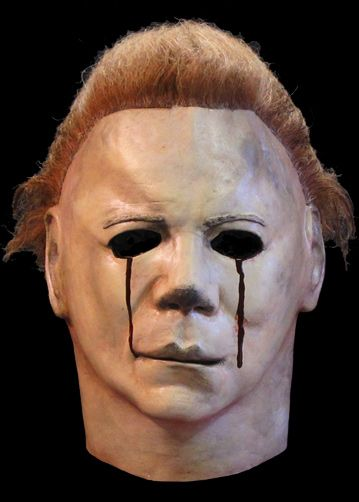 Screen accurate Halloween 2 mask. Love this version with the blood tears.