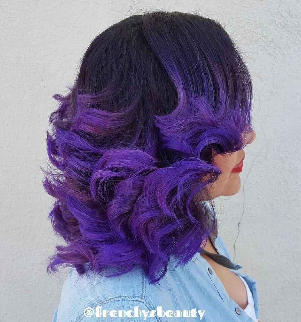 Perfectly purple Color melting hair, Purple ombre hair
