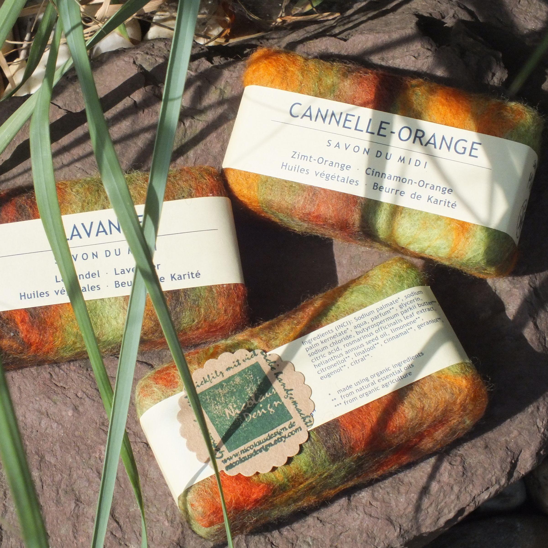 Filzseife Natural Soap Handumfilzt Autumn Leaves Organic Soap