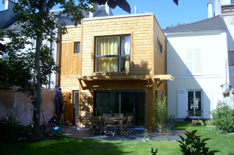 Extension bois zinc extension maison love Pinterest Extensions - extension de maison en bois prix au m2
