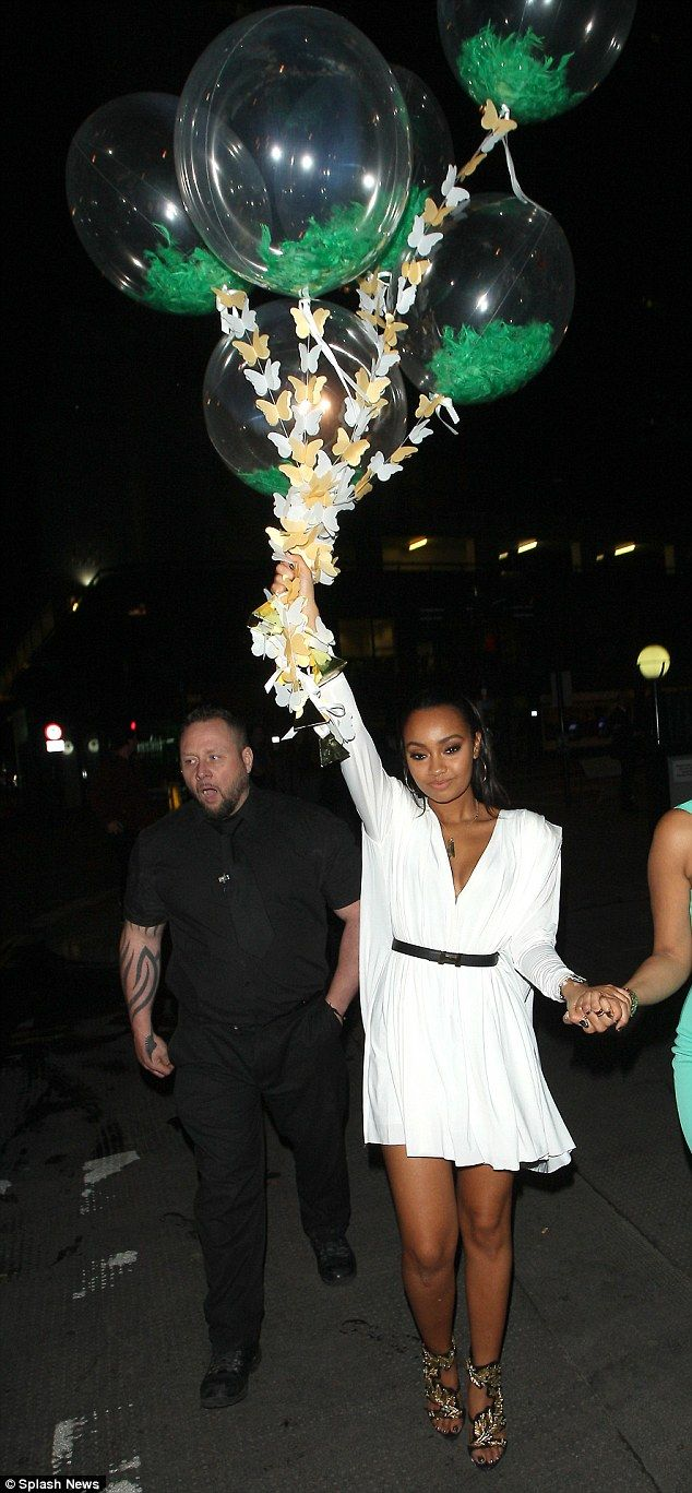 Birthday girl: Leigh-Anne Pinnock celebrated her 23rd birthday in style with her bandmate ...