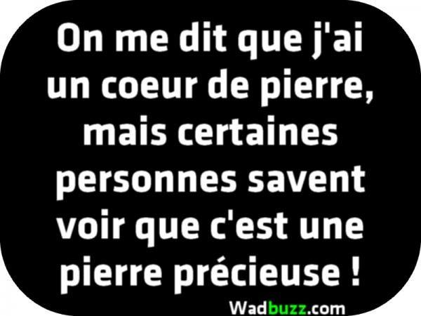 On Me Dit Que J Ai Un Coeur De Pierre Panneaux Humour Coeur De