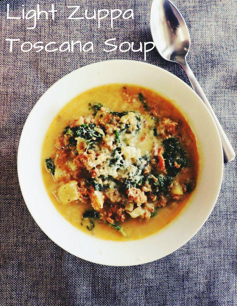 Light Zuppa Toscana Soup #zuppatoscanasoup