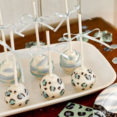 Blue Safari Baby Shower Ideas #cakepopbouquet