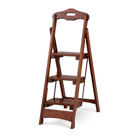 Enjoyable Lowell Folding Step Stool Is Made Of Solid Poplar With Machost Co Dining Chair Design Ideas Machostcouk