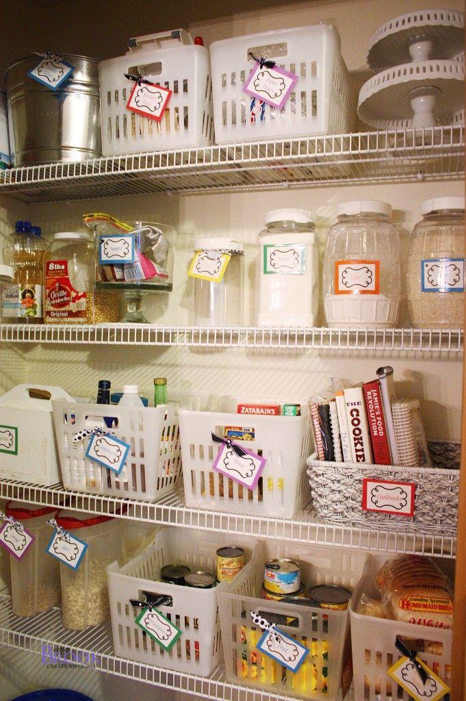 organizedpantry4   Organisation maison, Organisation et Rangement