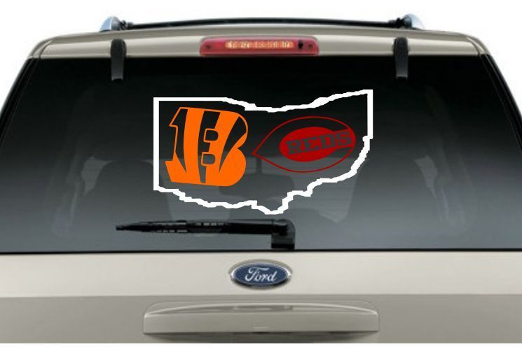 Buy 2 Get 1 Free Bengals Reds State Car Decal Various Size Window