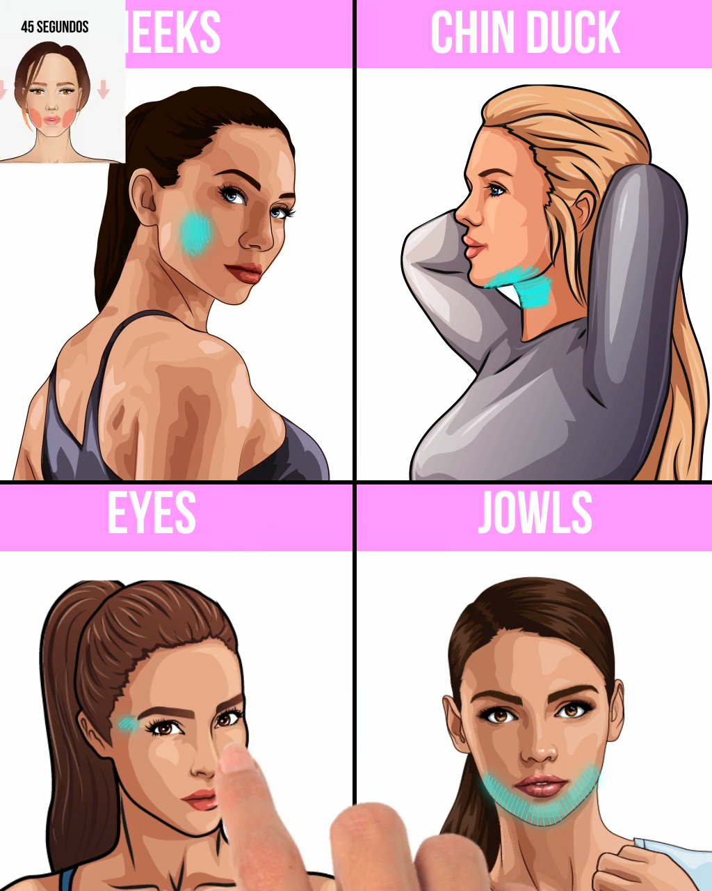 Face Yoga To Reduce Double Chin Simple Exercises To Make Your Face Lifted And Get Rid Of Double Chin Try The Workout And Enjoy The Res Fitness Estar