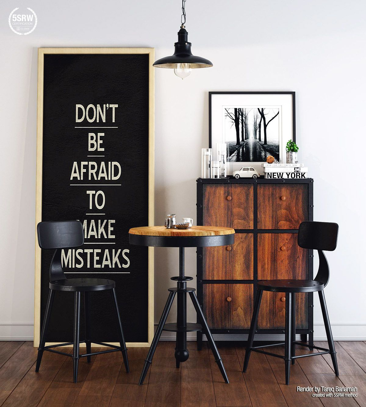Business Office Decorating Ideas Is Definitely Important: Industrial Style Corner – Tareq Banamah (With Images)