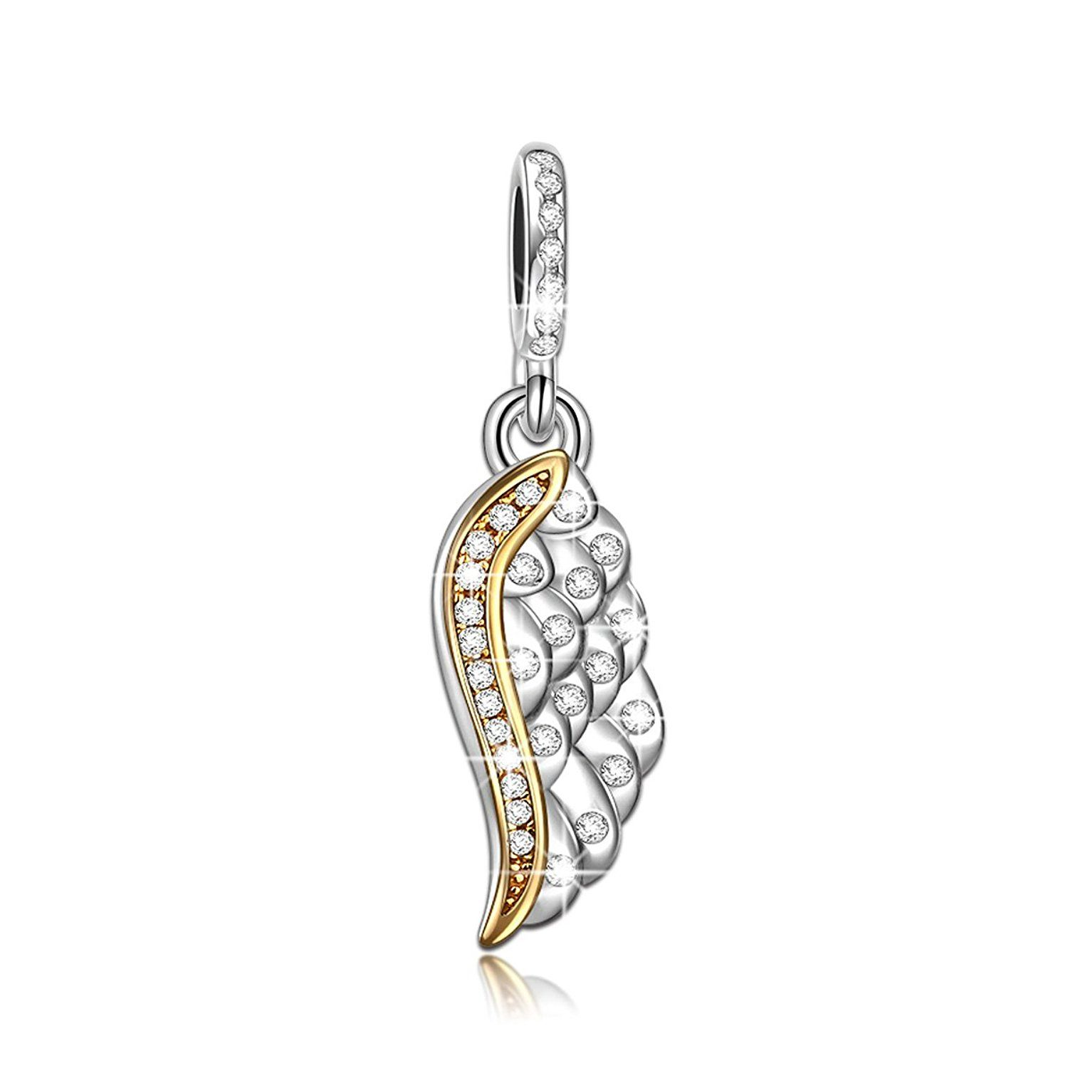 NINAQUEEN - Colorful Angel Wing - 925 Sterling Silver Charms Nickel-free E6PqTr