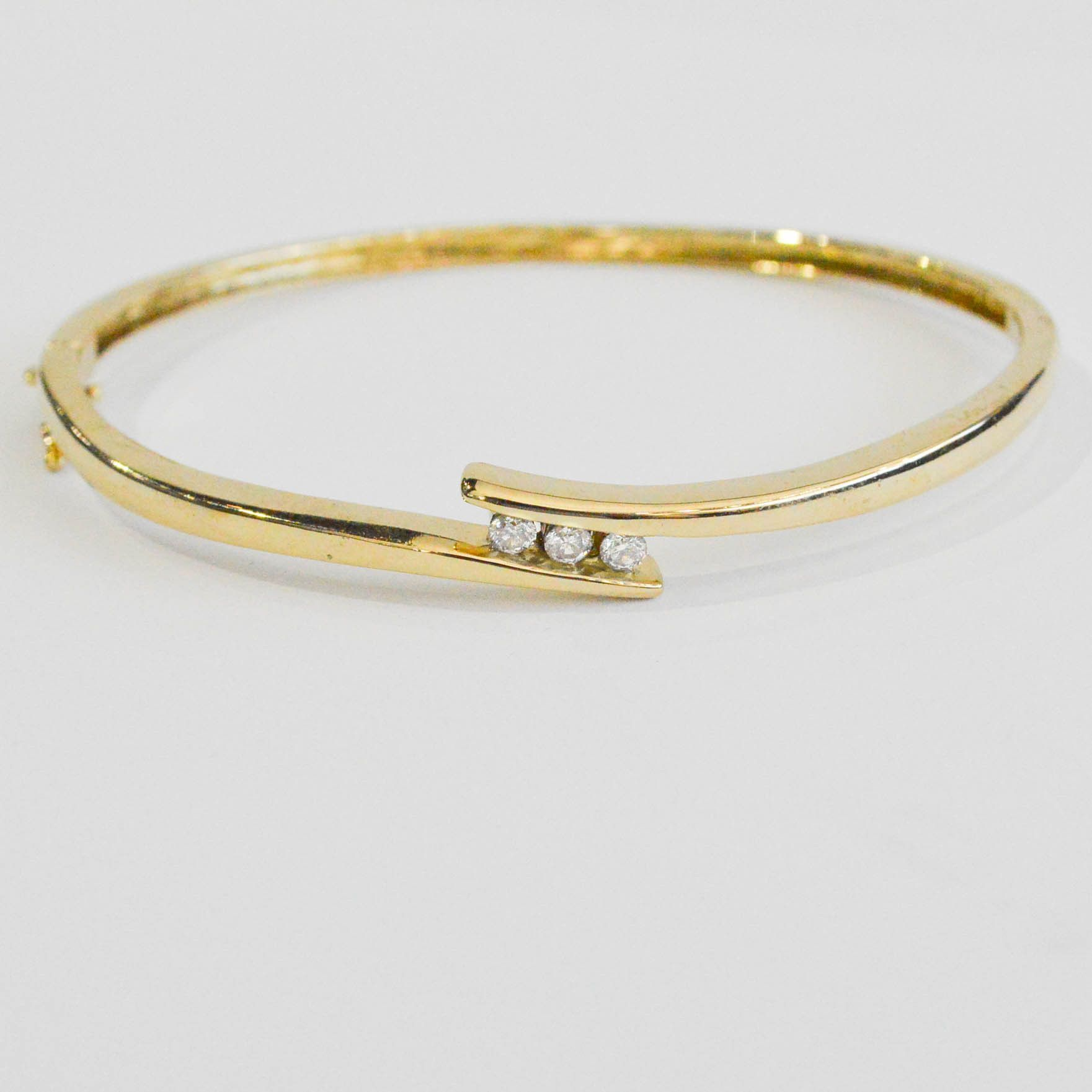 karat category bangles archives bracelets product thick elle glitter gold bracelet yellow jewels by bangle