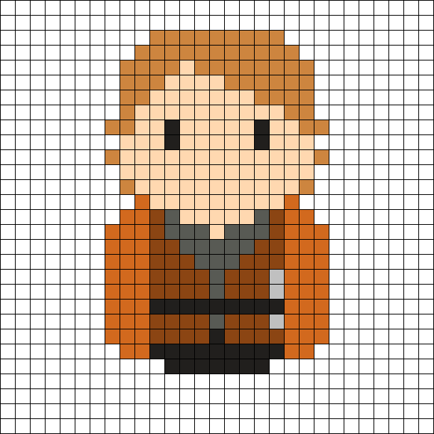 Anakin Skywalker - Star Wars Perler Bead Pattern | hamma beads ...