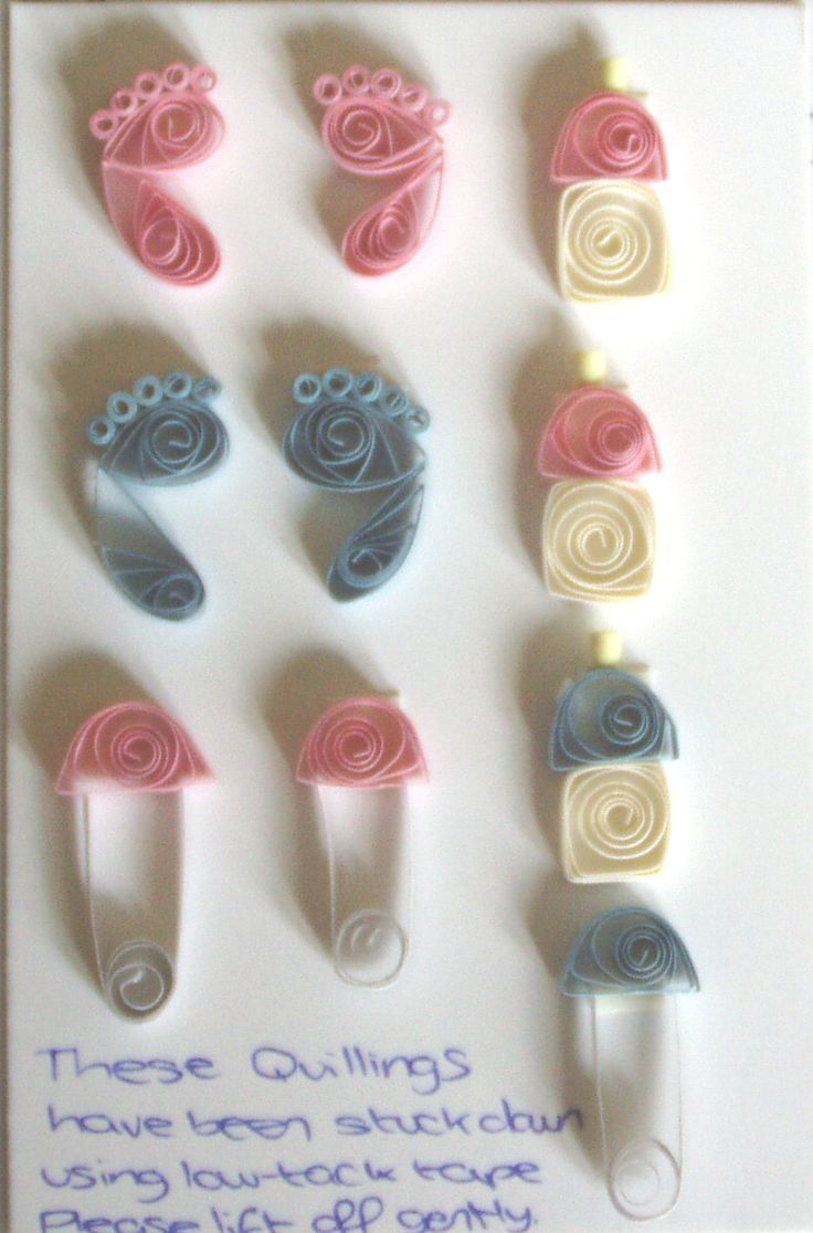 Photo of quilled Baby Feet , Bootles Nappy Pins – bjl – 3D Quilling Ideas