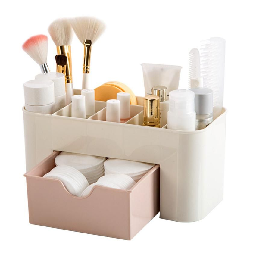 Space Saving Bathroom Organizer Storage Drawer For Cosmetics Makeup In 2020 Makeup Storage Drawers Makeup Storage Containers Makeup Storage Box