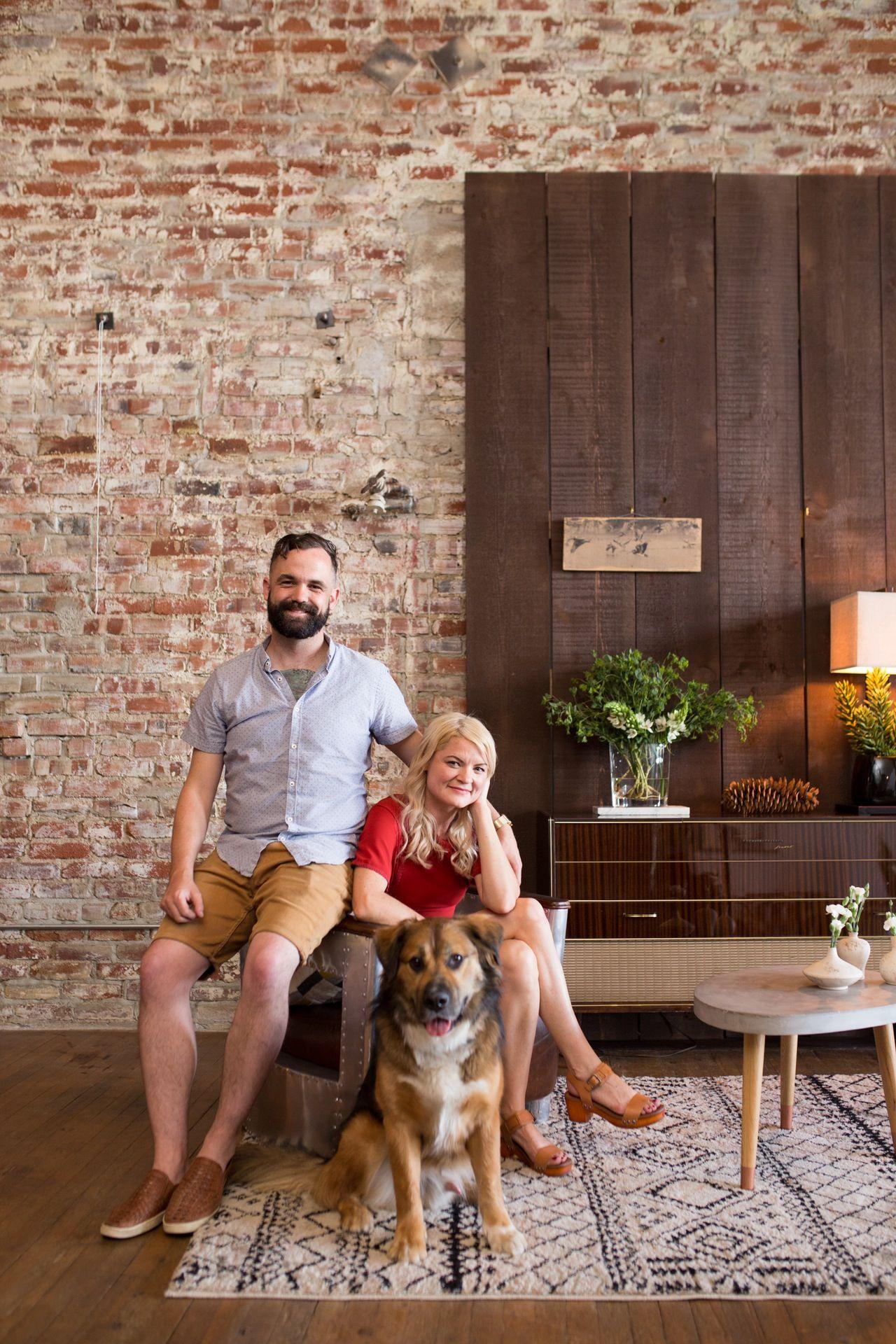 "Amber & Ryan's ""Make It Work"" Loft Brick loft, Downtown"