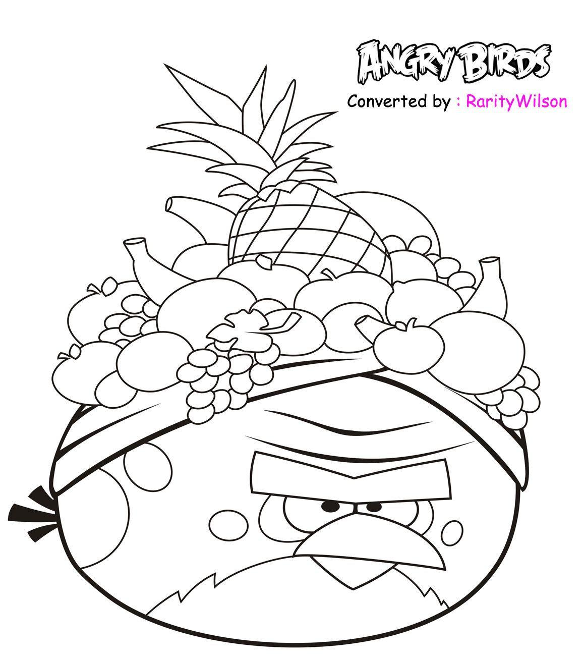 Free Printable Coloring Pages Angry Birds Red