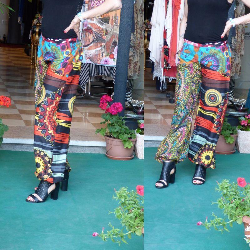 Pantaloni larghi in cotone  Taglia unica s/m  https://www.lorcastyle.it