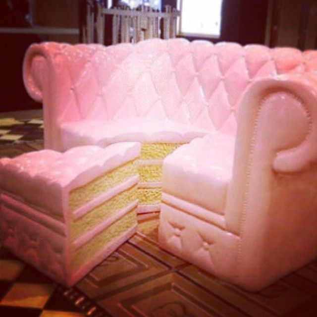 Wanna take a seat on the CAKE COUCH? I\'m getting hungry just from ...