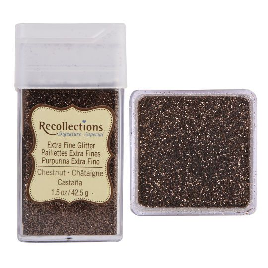 Recollections Signature Extra Fine Glitter, 1.5 oz. Chestnut