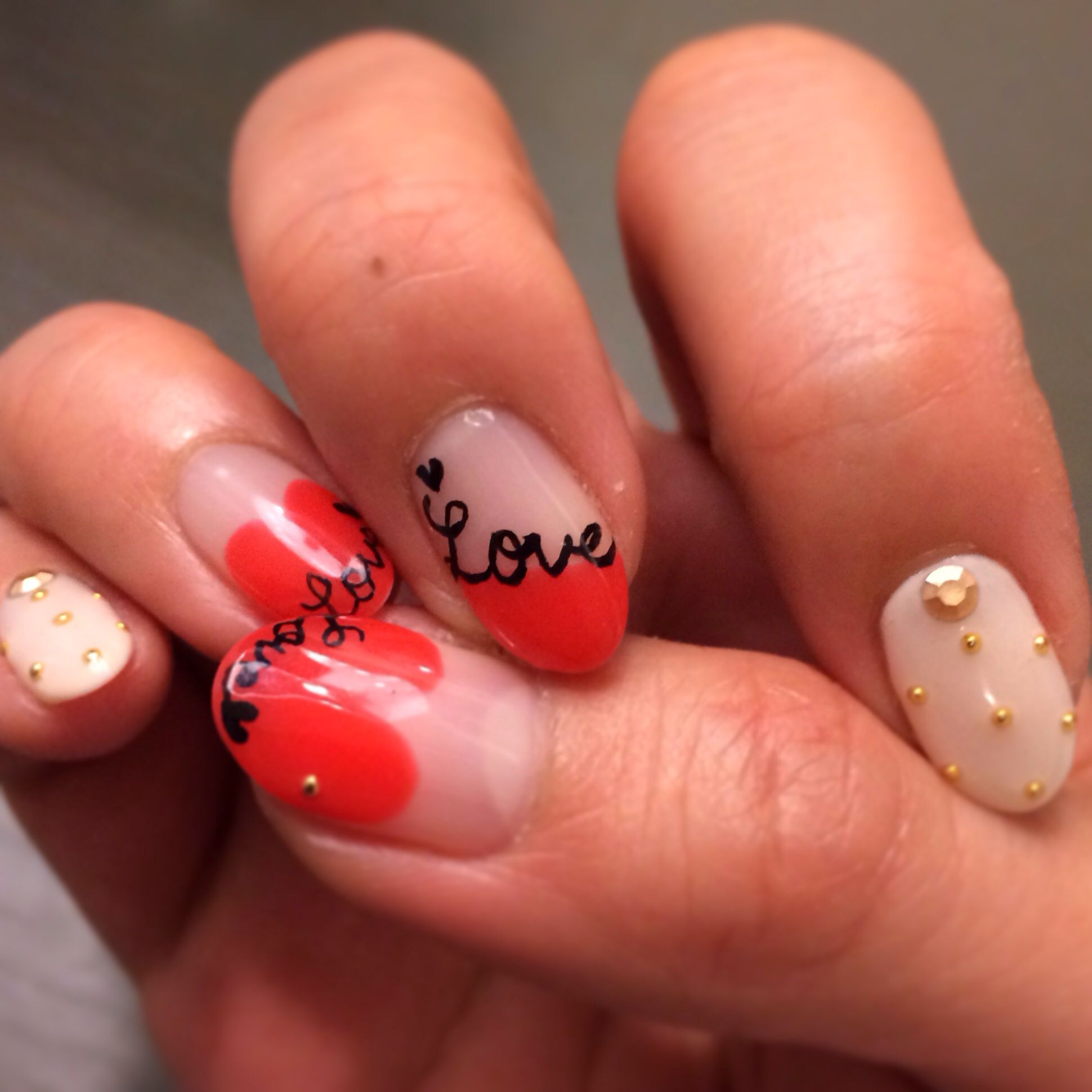 Ideas about japanese nail art on pinterest - Stiletto Nails Gel Nails Cal Gel Japanese Nail Art Valentine S Day Idea