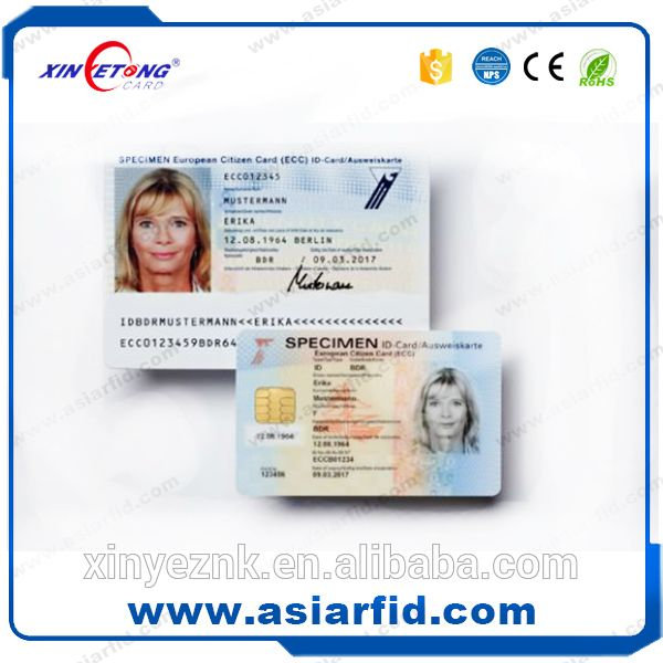 Em4100 Pastic Contactless Employee Id Card Sample With Barcode
