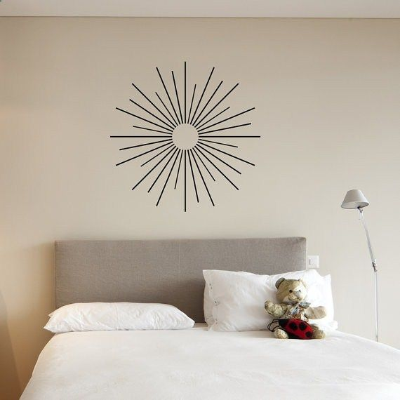 Starburst Vinyl Wall Art Decal Sticker By WallumsWallDecals