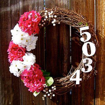 Front Door Wreath Year Round | ... Wreath Front Door Decor Address Wreath