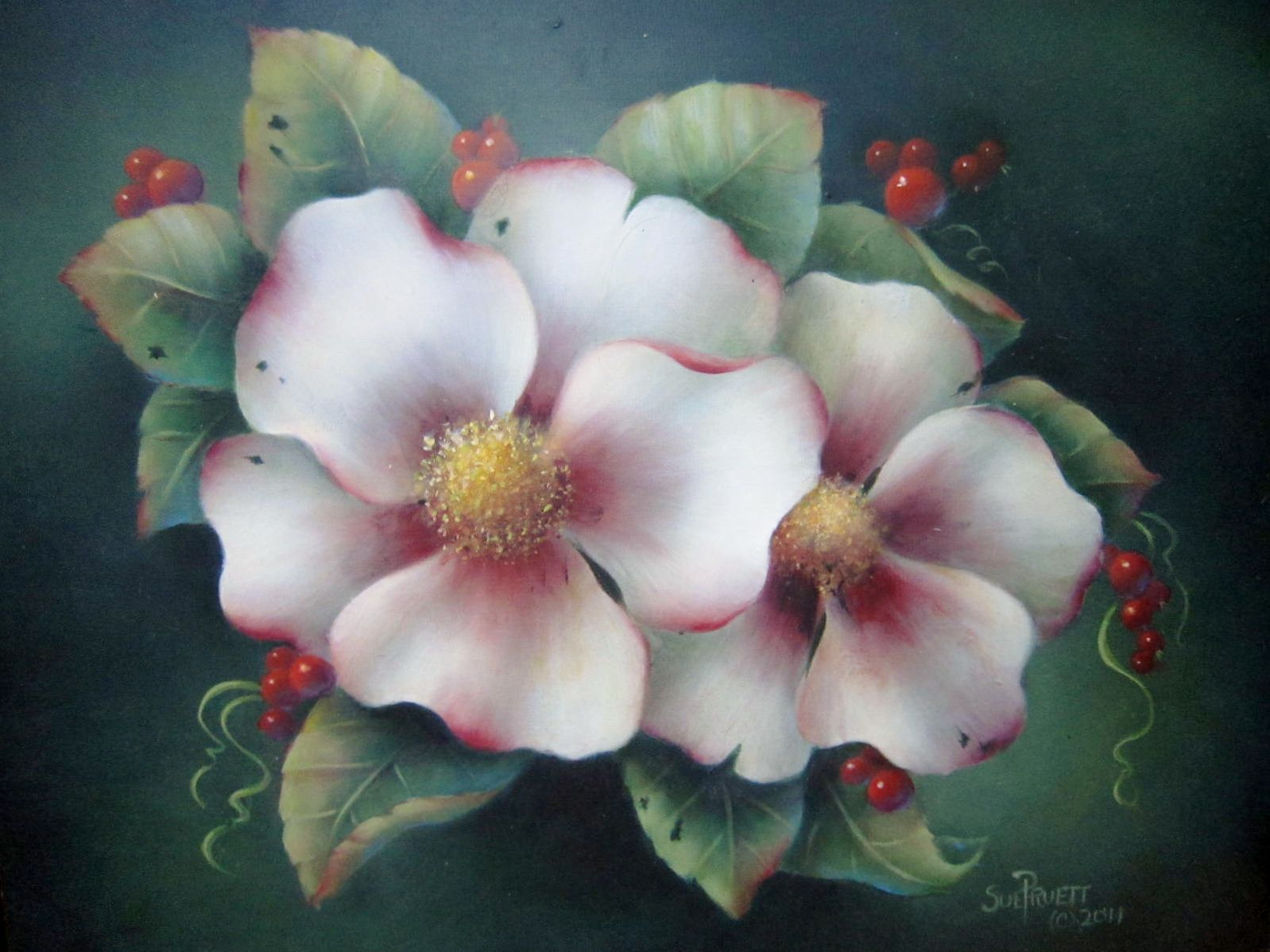Downloadable painting pattern acrylic how to paint for Painting flowers in acrylic step by step