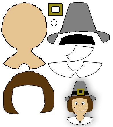 puritan, pilgrim, pilgrim crafts, thanksgiving crafts   history ...