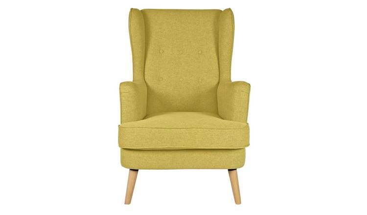 Buy Argos Home Callie Fabric Wingback Chair Mustard