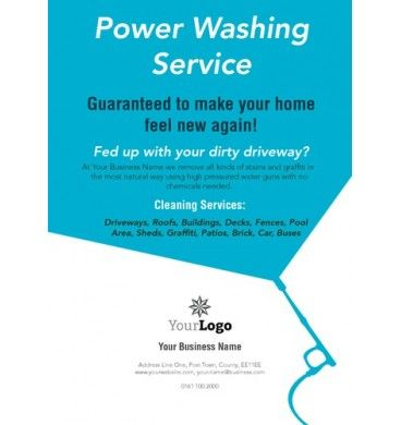 A6 Power Washing Leaflets #printing #flyers #designs #clean | A6 ...