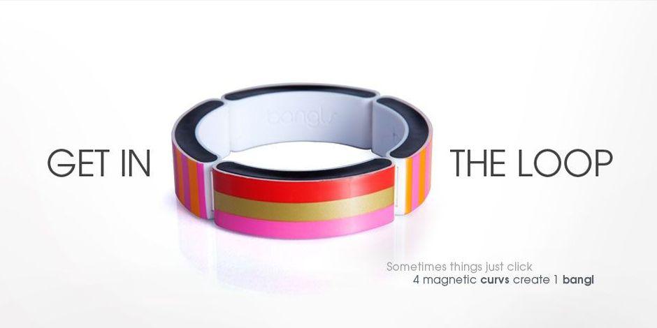 Love this new line!  Custom magnetic bracelets. the little pink bag