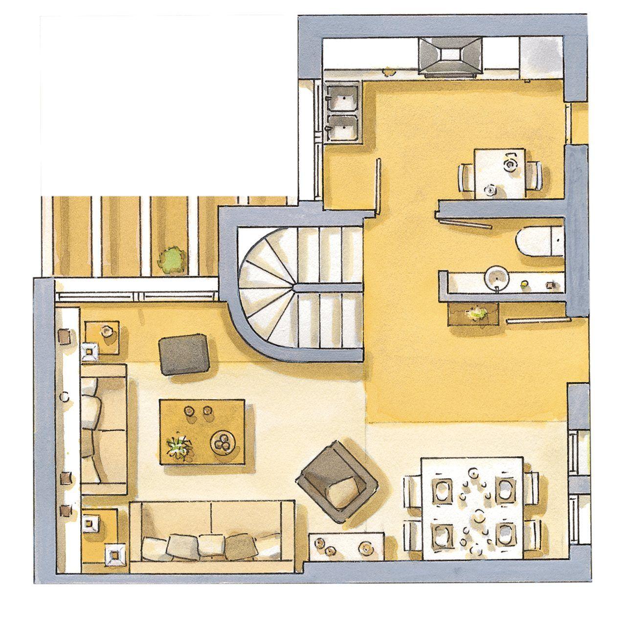 planos de casas modernas de 65m2