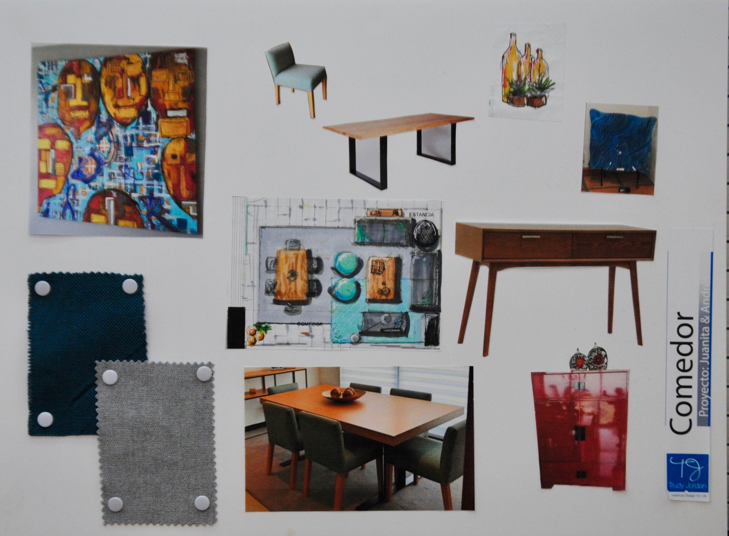 Interior design Board Comedor Dpto Bosque Real