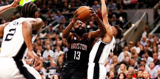 Rockets, saha avantajını Spurs'ten aldı