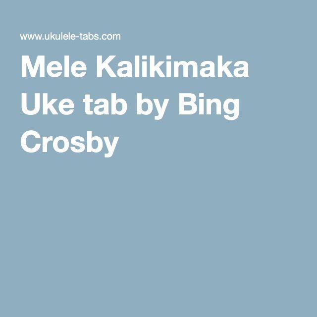 Mele Kalikimaka Uke Tab By Bing Crosby Ukulele Pinterest Bing