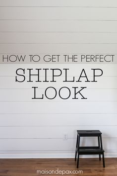 How to Plank a Wall (DIY Shiplap is part of Home Accents DIY Ship Lap - How to plank a wall tutorial and tips for creating a farmhouse feel with DIY shiplap look walls  Step by step pictures to guide you!