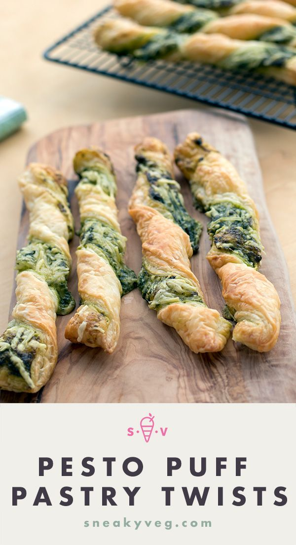 Puff pastry twists with pesto and cheese | Sneaky Veg