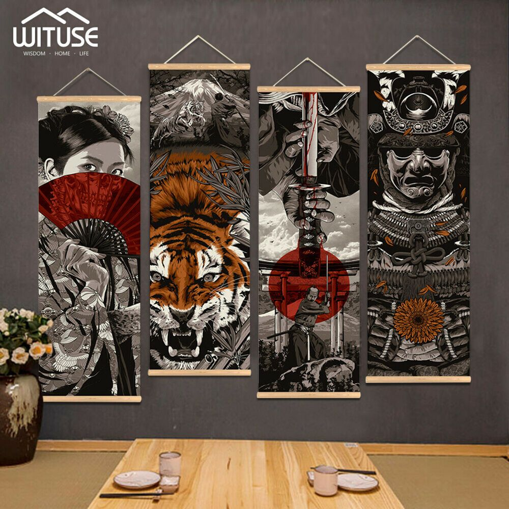 FASHION MAN WITH A HEAD OF A TIGER FUNKY MODERN CANVAS PRINT WALL ART PICTURE