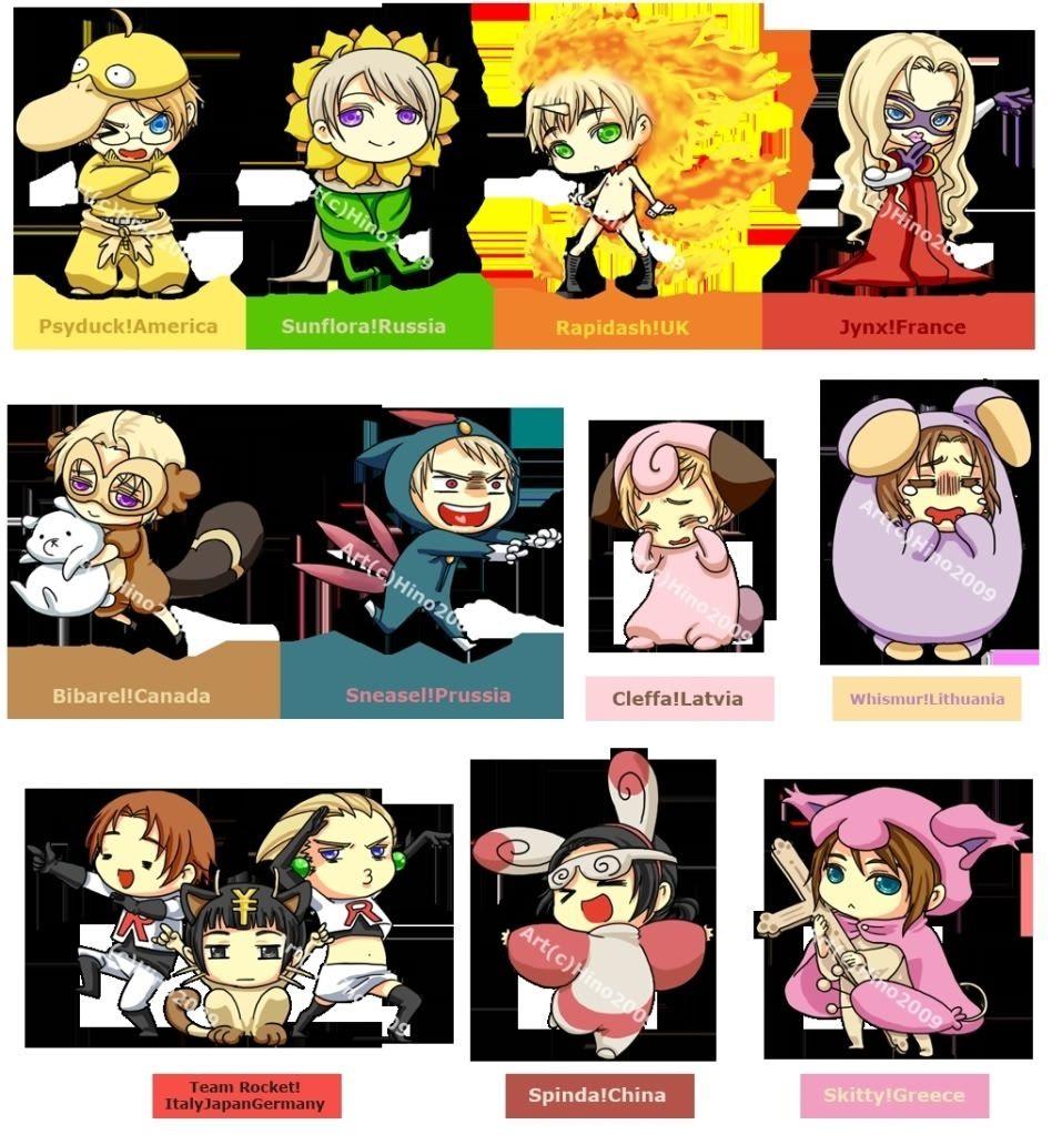 hetalia- pokemon crossover this is so kawaii! | hetalia