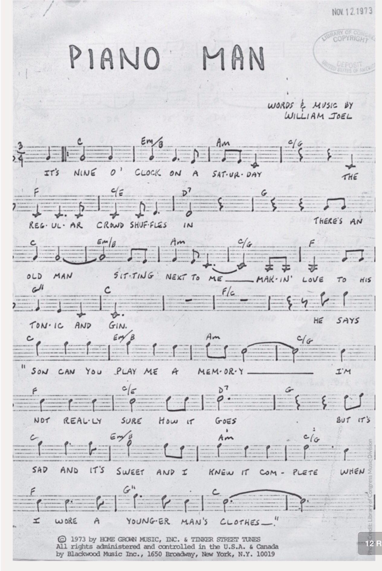 Billy Joel -Piano Man | Music ❤ | Pinterest