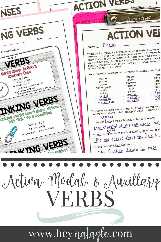 Teaching The Three Verb Types Linking Verbs Verbs Lessons Linking Verbs Worksheet [ 1500 x 1000 Pixel ]