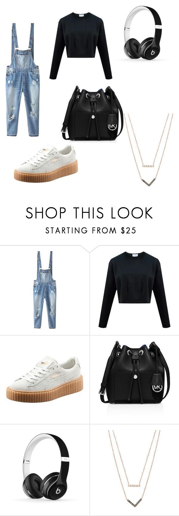 """""""Untitled #14"""" by chloe-be ❤ liked on Polyvore featuring Relaxfeel, Puma, MICHAEL Michael Kors, Beats by Dr. Dre and Michael Kors"""