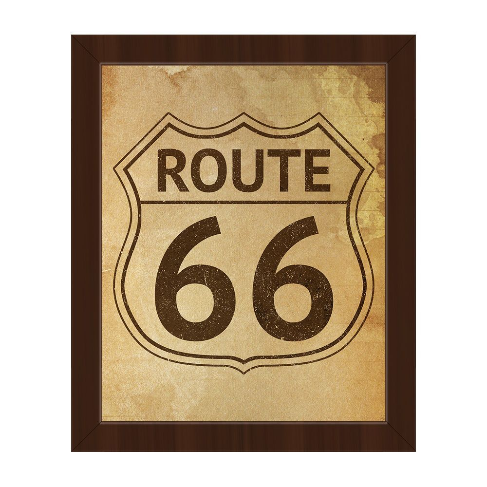 Horizon Route 66 Stained Framed Canvas Wall Art | Products ...