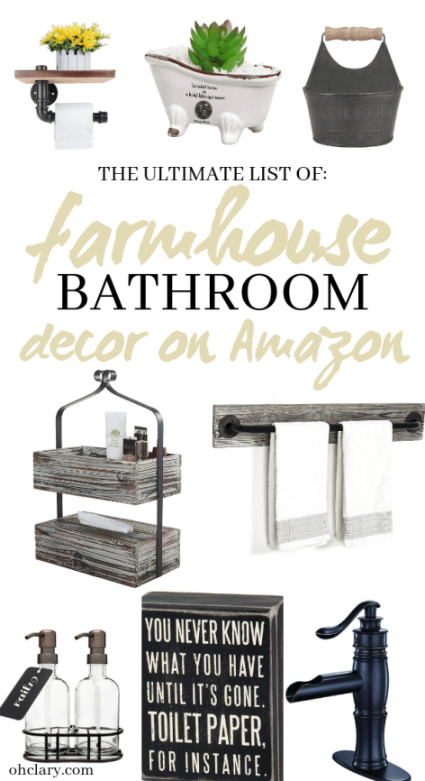 Farmhouse Bathroom Decor The Ultimate List Of 60 Affordable Farmhouse Bathroom Ideas Farmhouse Bathroom Decor Farmhouse Bathroom Farmhouse Bathroom Accessories