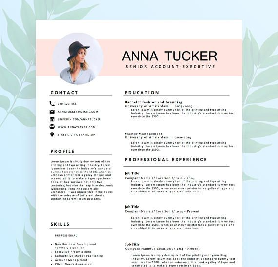 Modern Resume Template Cv Template Professional And Creative Resume Teacher Resume Word Resume Instant Download Modele De Cv Moderne Modele Cv Cv Moderne