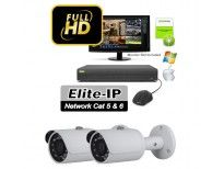 Elite 2 Bullet 3MP Kit Item: EKIT2-90B-3MP - Wide Angle 3.6mm Fixed Lens  - HD 3 Megapixel  - 90 Foot Night Vision - PoE Power Over Ethernet