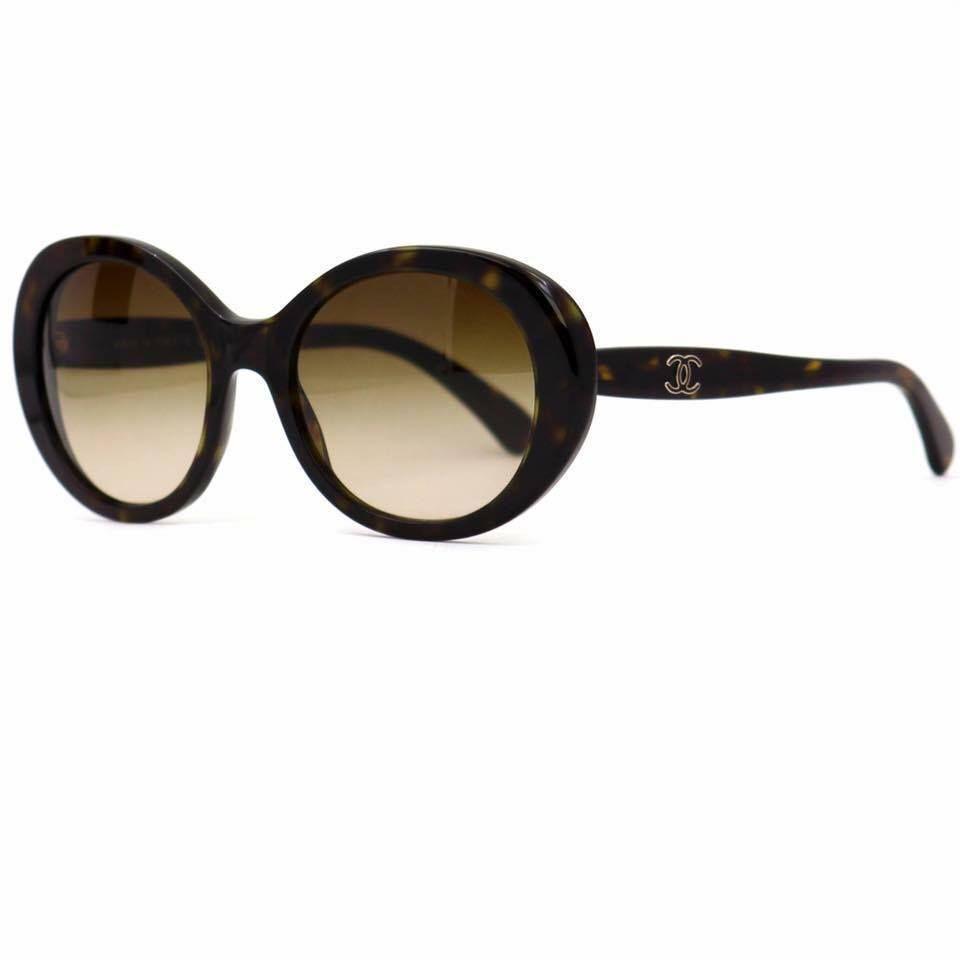c2e0f8e5c7909 CHANEL 5238 Round Women s Tortoise Sunglasses with Brown Gradient Lenses   CHANEL  Round